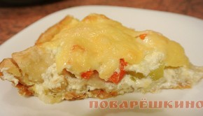 Пирог-тарталетка с кабачком и перцем