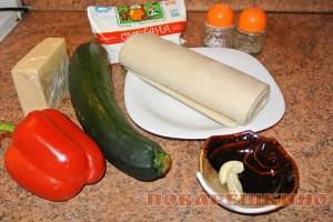 Ингредиенты для пирога с кабачком