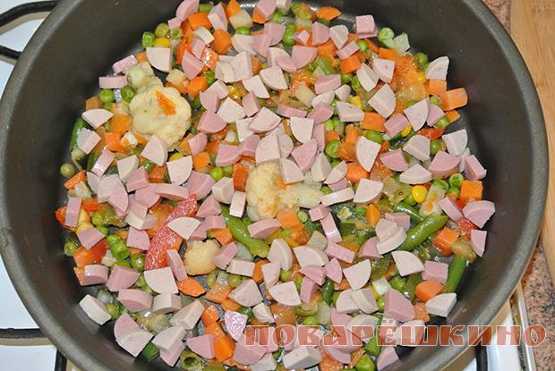 Полезный омлет с овощами