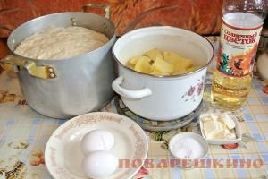 Наливные картофельные шаньги