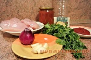 Шашлык из куриного филе: ингредиенты