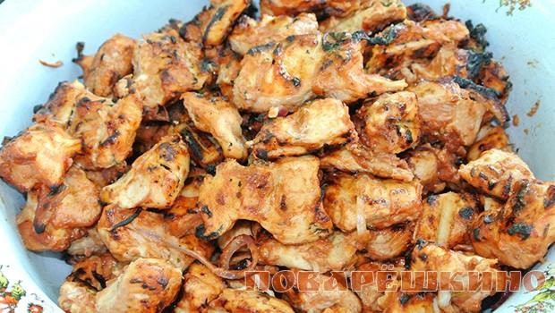 Шашлык из куриного филе по-восточному