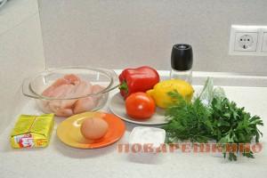 Куриные паровые котлеты с овощами