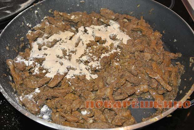 Печень в сметанном соусе