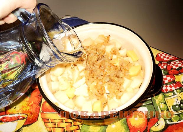 Постная тушеная картошка