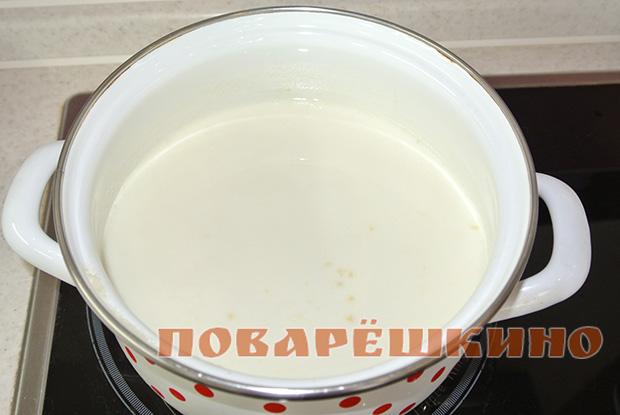 Пшенная каша на молоке