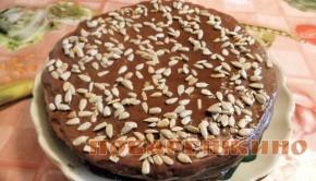 Торт с шоколадным кремом в мультиварке