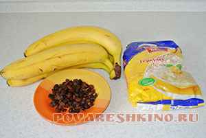Печенье из овсянки и бананов