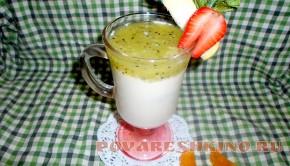 Йогуртный десерт с киви