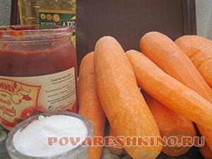 Суповая заготовка на зиму из моркови с томатной пастой