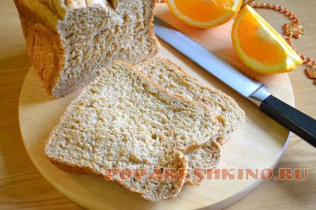 Хлеб со вкусом капучино в хлебопечке