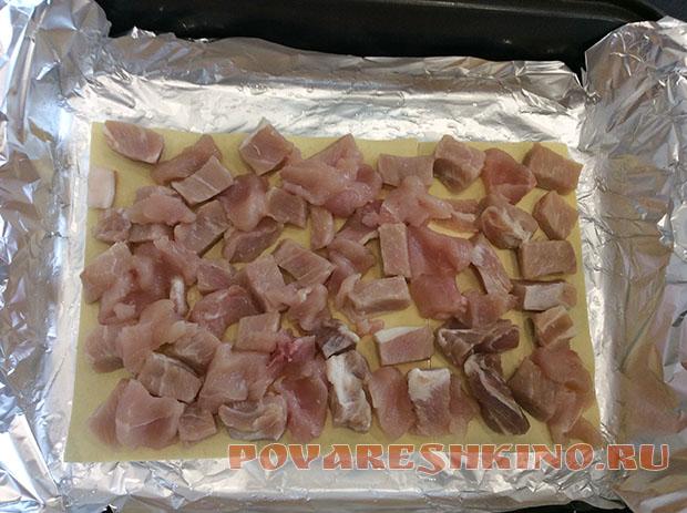 Свинина, запеченная под листами для лазаньи