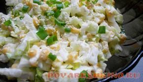 Салат с пекинской капустой и кунжутом