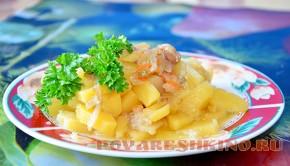 Тушеная картошка на утином бульоне по бабушкиному рецепту