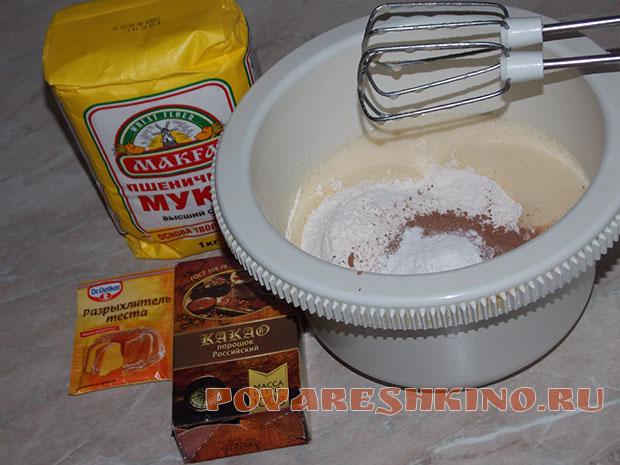 Бисквитный торт Птичье молоко с манным кремом (без суфле)