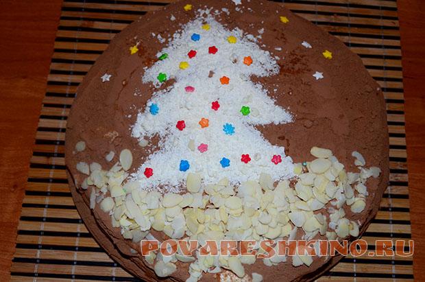 Торт Новогодняя фантазия на основе тирамису