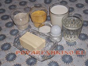Рисово-пшенная каша на молоке