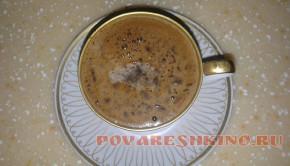 Медовый кофе с молоком и специями