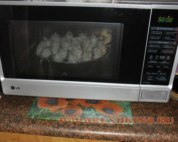 Торт Горка в микроволновке