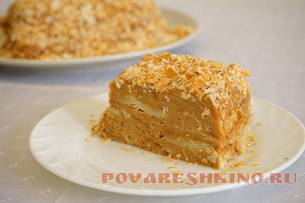 Торт наполеон пошаговый фото рецепт с готовым тестом