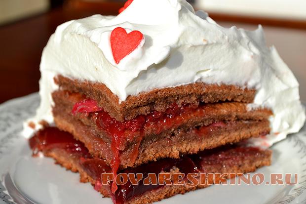 Легкий торт для двоих Воздушный поцелуй