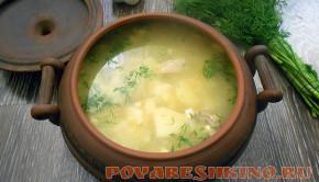 Яичный суп на курином бульоне