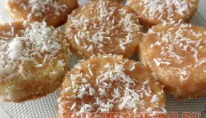 Бисквитное печенье с кокосовой стружкой
