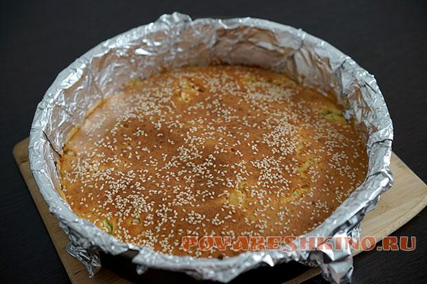Быстрый капустный пирог Заливной