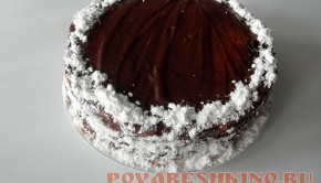 Шоколадный торт с карамельно-яблочной прослойкой