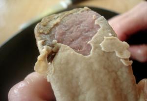 Как чистить свиной язык?