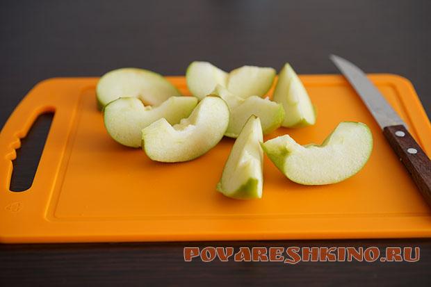 Компот из свежих груш и яблок