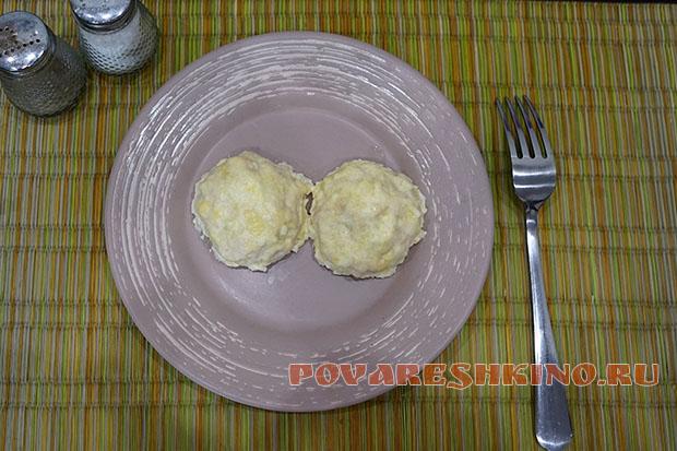 Куриные шарики в чесночно-сырном соусе