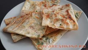 Лаваш с сыром и зеленью Хрустики - быстрый завтрак