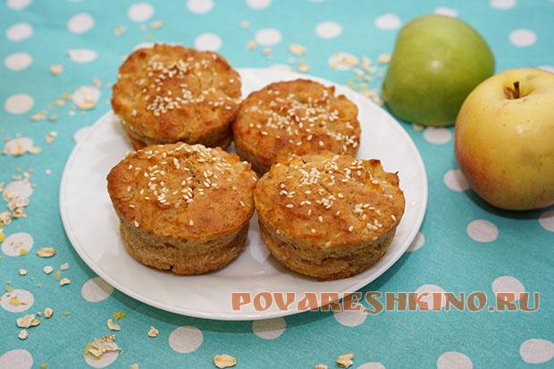 Овсяные кексы с яблоками